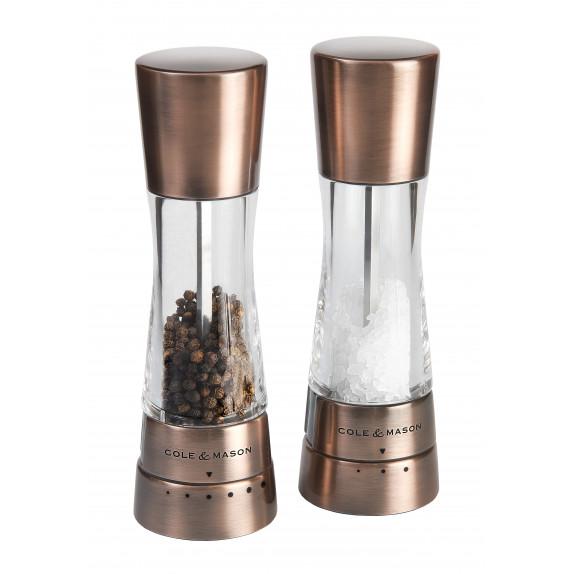 Coffret moulins sel et poivre Derwent 190 mm Cuivre