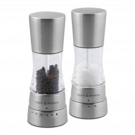 Coffret sel et poivre Mini Derwent inox 160 mm